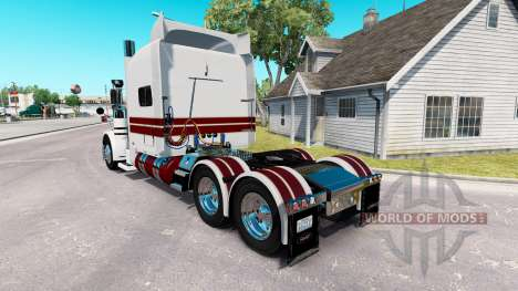 Скин White Knight на тягач Peterbilt 389 для American Truck Simulator