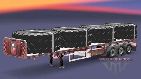 Полуприцеп-площадка с грузами v3.2 для Euro Truck Simulator 2