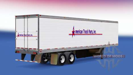 Скин American Truck Parts Inc. на полуприцеп для American Truck Simulator
