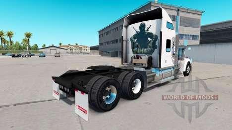 Скин Black Ops v1 на тягач Kenworth W900 для American Truck Simulator