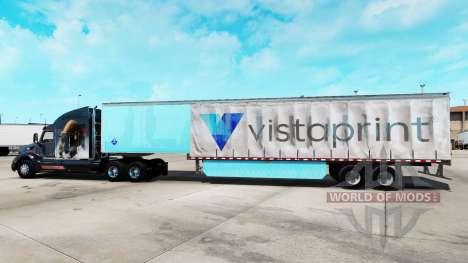 Скин Vistaprint на шторный полуприцеп для American Truck Simulator