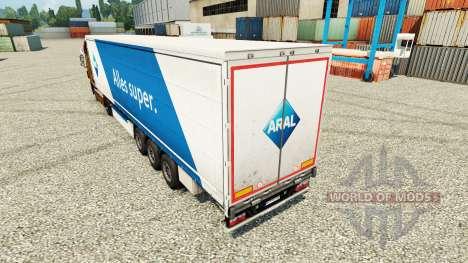 Скин ARAL на полуприцепы для Euro Truck Simulator 2