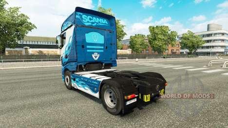 Скин Blue Flame на тягач Scania R700 для Euro Truck Simulator 2