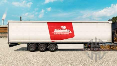 Скин Siodemka на шторный полуприцеп для Euro Truck Simulator 2