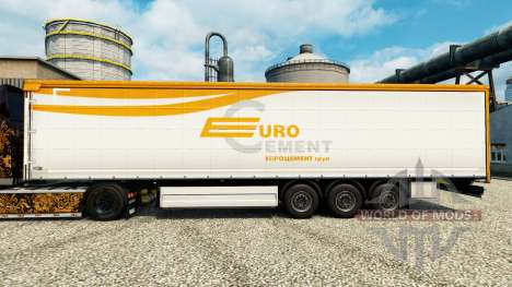 Скин Eurocement group на полуприцепы для Euro Truck Simulator 2