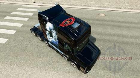 Скин White Cheetah на тягач Scania T для Euro Truck Simulator 2