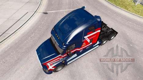 Скин Cargo Transporters на Freightliner Cascadia для American Truck Simulator