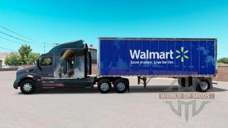 Скин Walmart на малый полуприцеп для American Truck Simulator