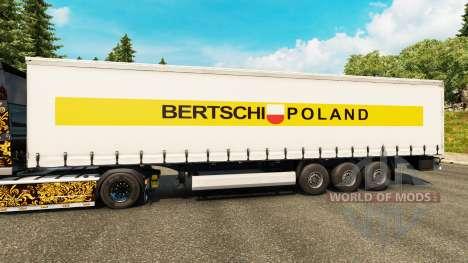 Скин Bertschi Poland на полуприцепы для Euro Truck Simulator 2