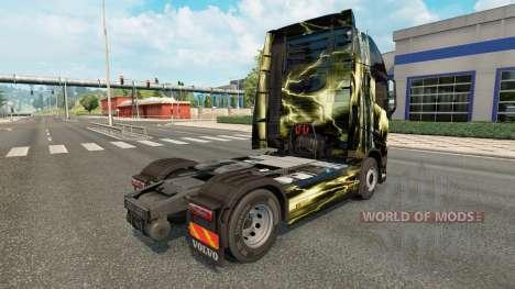 Скин The deadly storm на тягач Volvo для Euro Truck Simulator 2