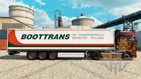 Скин BootTrans на полуприцепы для Euro Truck Simulator 2