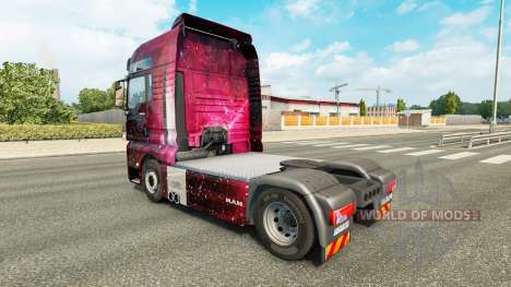Скин Weltall на тягач MAN для Euro Truck Simulator 2