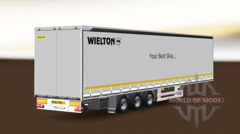 Шторный полуприцеп Wielton v1.1 для Euro Truck Simulator 2