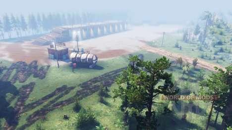 Лесной полигон для Spin Tires