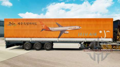Скин Jeju Air на полуприцепы для Euro Truck Simulator 2