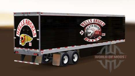Скин Hells Angels на рефрижераторный полуприцеп для American Truck Simulator
