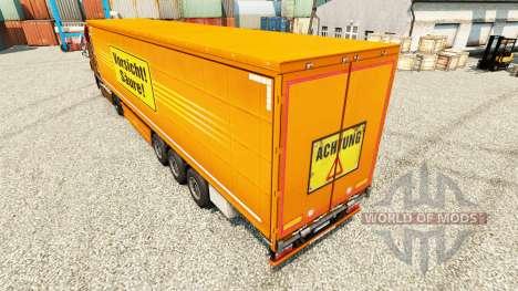 Скин Vorsicht Saure на полуприцепы для Euro Truck Simulator 2
