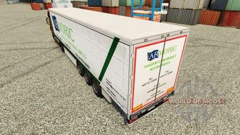 Скин Armoric Freight International на полуприцеп для Euro Truck Simulator 2