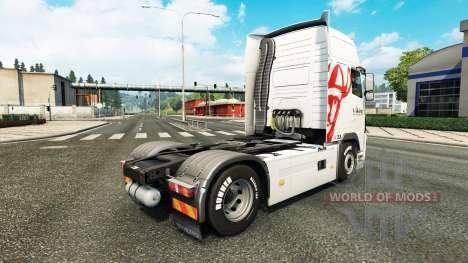 Скин Viking Express на тягач Volvo для Euro Truck Simulator 2
