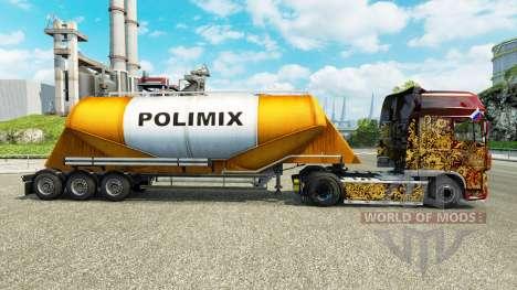 Скин Polimix на цементный полуприцеп для Euro Truck Simulator 2