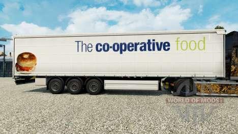 Скин The co-operative food на шторный полуприцеп для Euro Truck Simulator 2