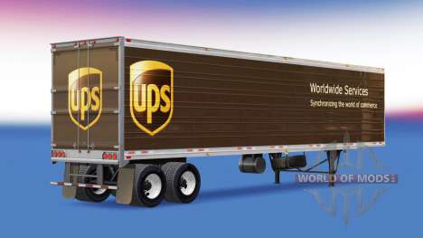 Скин UPS на полуприцеп для American Truck Simulator