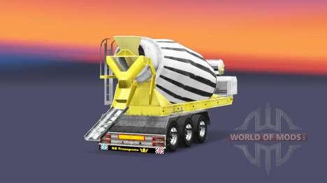 Полуприцеп бетоносмеситель для Euro Truck Simulator 2