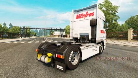 Скин Weyres на тягач DAF для Euro Truck Simulator 2