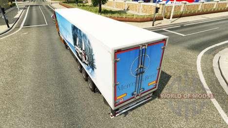Скин Mercedes-Benz на полуприцепы для Euro Truck Simulator 2