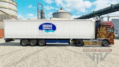 Скин Nestle Waters на полуприцепы для Euro Truck Simulator 2