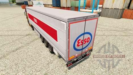 Скин Esso на полуприцепы для Euro Truck Simulator 2
