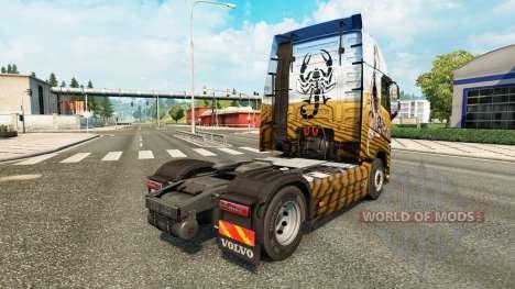 Скин Scorpion на тягач Volvo для Euro Truck Simulator 2