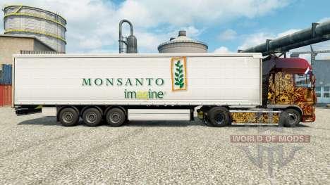 Скин Monsanto imagine на полуприцепы для Euro Truck Simulator 2