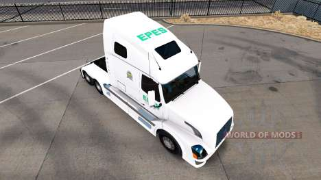 Скин Epes Transport на тягач Volvo VNL 670 для American Truck Simulator