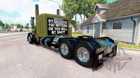 Скин WW2 Clean на тягач Peterbilt 389 для American Truck Simulator