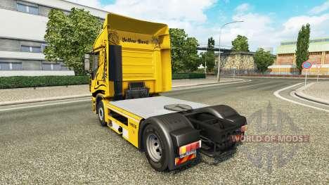 Скин Yellow Devil на тягач Iveco для Euro Truck Simulator 2