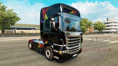 Скин FDT на тягач Scania для Euro Truck Simulator 2