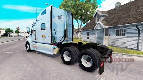 Скин Mercer на тягач Peterbilt 387 для American Truck Simulator