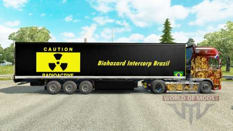 Скин Biohazard Intercorp Brazil на полуприцепы для Euro Truck Simulator 2