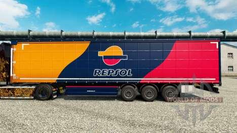 Скин Repsol на полуприцепы для Euro Truck Simulator 2