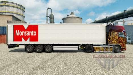 Скин Monsanto Roundup на полуприцепы для Euro Truck Simulator 2