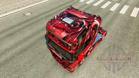 Скин Hintergrund на тягач Scania для Euro Truck Simulator 2