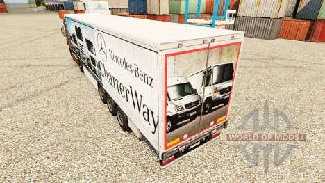 Скин Mercedes-Benz Charter Way на полуприцепы для Euro Truck Simulator 2