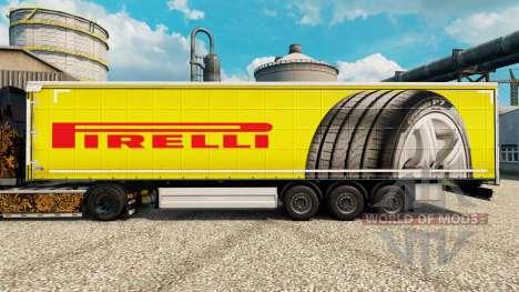 Скин Pirelli на полуприцепы для Euro Truck Simulator 2