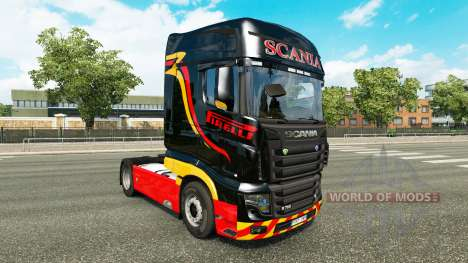 Скин Pirelli на тягач Scania R700 для Euro Truck Simulator 2