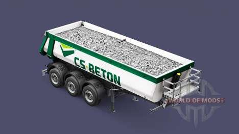 Полуприцеп-самосвал Schmitz Cargobull CS-BETON для Euro Truck Simulator 2