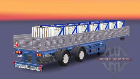 Бортовой полуприцеп с грузом медного купороса для Euro Truck Simulator 2