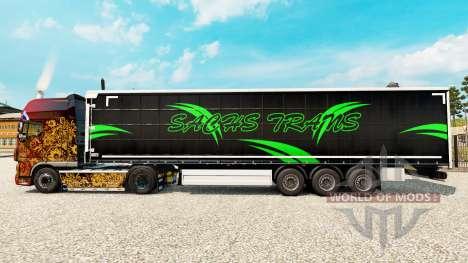 Скин Sachs Trans на шторный полуприцеп для Euro Truck Simulator 2