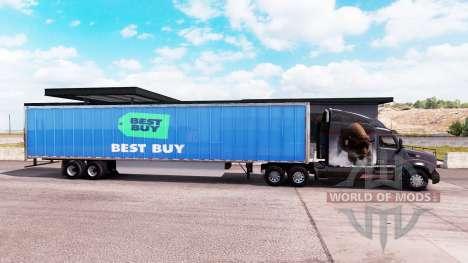 Скин Best Buy на удлинённый полуприцеп для American Truck Simulator