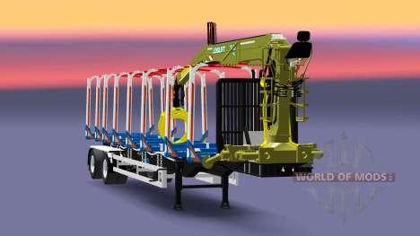 Полуприцеп-лесовоз Huttner для Euro Truck Simulator 2